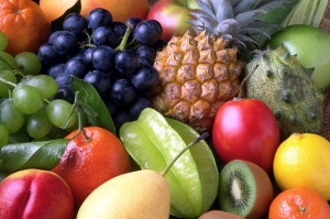 eating healthy organic food